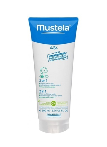 Mustela Mustela 2 İn 1 Hair And Body Wash 200Ml - Avokado 200Ml Renksiz